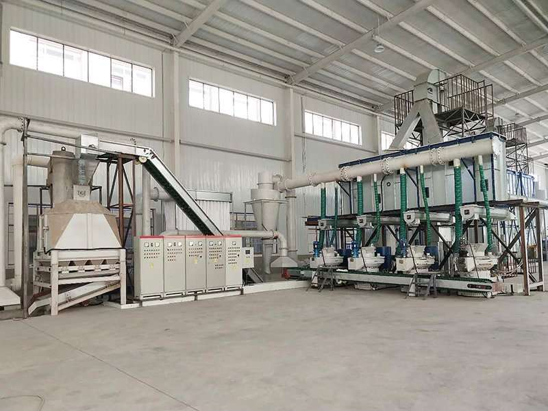 wood pellet line in qingdao